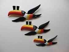 SET OF THREE GUINNESS / GUINESS FLYING TOUCANS AIR BRUSH PAINT FINISH
