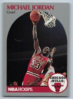 1990-91  MICHAEL JORDAN - NBA Hoops Basketball Card # 65 - CHICAGO BULLS GOAT