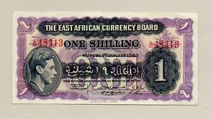 East African Currency Board one Shilling Note Mint