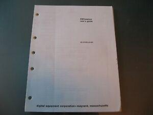 DECstation User Guide Manual Pages DEC EK-VTX78-UG-001 Fair Condition