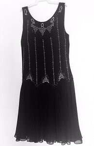 Black Gatsby Style Review Dress Size 10   **SEE OUR EBAY SHOP**