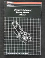 GENUINE HONDA HR215 ROTARY MOWER OPERATORS OWNER'S MANUAL MINT SHAPE