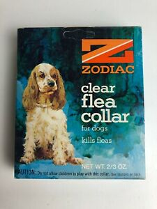 Vintage Zodiac Clear Flea Collar for Dogs 1974 NOS New Sealed Box Collectible
