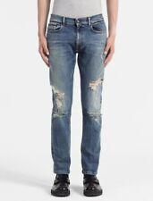Calvin Klein CK Italian Stretch Selvedge Denim Straight Taper Jeans NEW 33x32