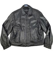 NWOT ~ WILSONS LEATHER Mens XL Black Motorcycle Jacket W/ Quilt Lined Insulation