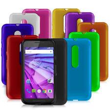 Étuis, housses et coques multicolore en silicone, caoutchouc, gel pour téléphone mobile et assistant personnel (PDA) Motorola