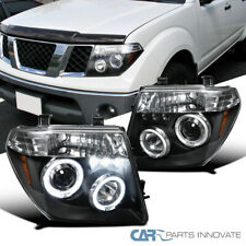 For 05-08 Nissan Frontier 05-07 Pathfinder Black LED Halo Projector Headlights