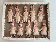 10 antique dolls Bunnies in the O.K