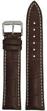 20mm RIOS1931 for Panatime Burgundy - New Orleans Leather Watch Band w Gator Pri