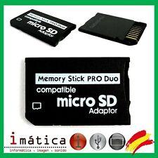 ADAPTADOR MEMORY STICK PRO DUO MS PARA PSP MICRO SD TARJETA ADAPTOR CONVERTIDOR