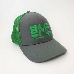 BMF MMA Hat Baseball Cap Snapback Green UFC Mixed Martial Arts Embroidered