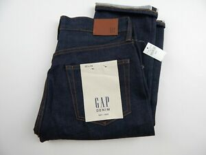 Gap Kaihara Stretch Denim Selvedge Athletic Fit Jeans Men's sz 30 x 34 New