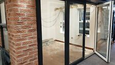 UPVC PVCU BI FOLDING DOORS-BIFOLDS-FOLDS-ANTHRACITE GREY white inside OPENING OU