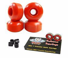 Blank Pro 52mm 99a Red Skateboard Wheels + Owlsome ABEC 7 Bearings