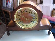 Vintage Wooden Chiming German Mantle Clock