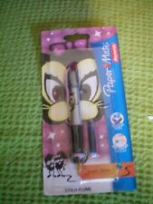 PAPERMATE FOUNTAIN/CARTRIDGE PEN..CAT DESIGN,,,NEW IN PACKET fab gift