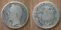 France 2 Francs 1868 Mint A Paris Silver Coin Napoleon 3 King Franc Free Ship Wd