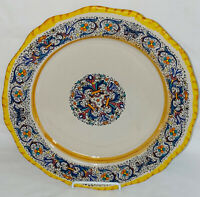 """Italy MOMA CERAMICHE ARTIGIANALI ART POTTERY 11"""" DINNER PLATE"""