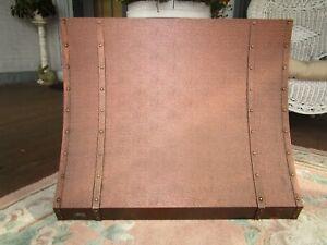 Vintage Copper Range Hood Broan Textured Riveted 30 Wide x 24 Tall