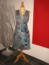 ROBE MAILLE & SOIE SILK DRESS SAVE THE QUEEN T XL 40 42 UK 12 14 COLLiER NECKLAC