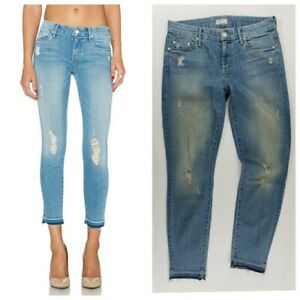 MOTHER Jeans Denim The LOOKER Crop in Cliffhanger sz 28 distressed aged