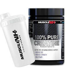 Muscle NH2  Pure Creatine 500g Kreatin Monohydrat Kraft Leistung Power + SHAKER