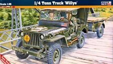 WILLYS JEEP W/TRAILER (BRITISH, POLISH, FRENCH, GREEK MKGS) 1/35 MISTERCRAFT