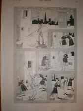Una impresión de dibujos animados Galante capturar Rene Toro 1894