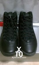 AIR JORDAN SHOELACE X 10 BLACK LACES STEELS SHADOW OVO REPLACEMENT NYC