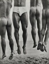 1987 Vintage MALE NUDE Men JUMP Butt Body Physique Photo Art 16x20 By HERB RITTS