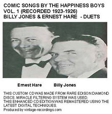 The Happiness Boys Billy Jones & Ernest Hare Comic Jazz Duets -Vol 1 - New CD