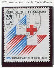 STAMP / TIMBRE FRANCE OBLITERE N° 2555 CROIX ROUGE EMBLEME