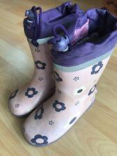 Tchibo TCM Regenstiefel Gr 26/27 Mädchen Schuhe Lila Rosa Blümchen