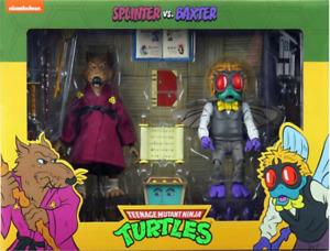"""NECA Teenage Mutant Ninja Turtles 7"""" Figure - Splinter vs. Baxter 2 Pack Figures"""