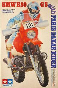 OSHIKA TAMIYA 1/12 Kit BMW R80 G/S with Paris Dakar Rider 1987 unassembled
