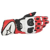 Alpinestars GP Plus R Red Leather Motorbike/Motorcycle Race Gloves