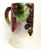 Antique W. G. Limoges France Hand Painted Porcelain Stein Mug Collectibles Art