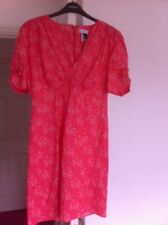 Topshop Dress Size 12 Pink Floral Liberty Fabric £59.00 New 1970s Vintage Style