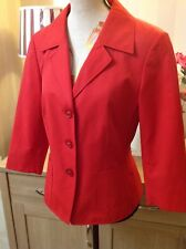 Betty Barclay Lovely Red Jacket Blazer Great Festive Session Size-10 New (B4U)