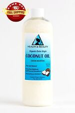 COCONUT OIL EXTRA VIRGIN UNREFINED ORGANIC CARRIER COLD PRESSED RAW PURE 16 OZ