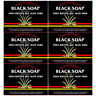 6 Pk African Formula Black Soap Shea Butter Aloe Vera Jabon Negro Karite Sabila
