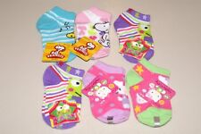 LOT OF 6 GIRLS SZ 5 1/2 - 6 1/2 PEANUTS, HELLO KITTY, & KEROPPI SOCKS NWT