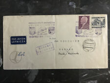 1938 Warsaw Poland Airmail First Flight Cover FFC to Kaunas Lithuania Lot