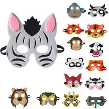 Animal Zoo Farm Zebra Tiger Monkey Mask Costume Fancy Dress Party Child Kids