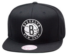 "Mitchell & Ness Brooklyn Nets Snapback Hat All Black/White ""B"" & LETTER jordan 3"