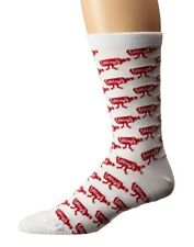 Obey WALK HOME White Red All Over Print Classic Tube 1 Pair Crew Men's Socks