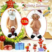 Naked Santa Naughty Christmas Tree Decoration Hanging Gift HOME