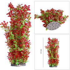 46cm Large Pink Green Plastic Water Plant for Aquarium Fish Tank Ornament Decor