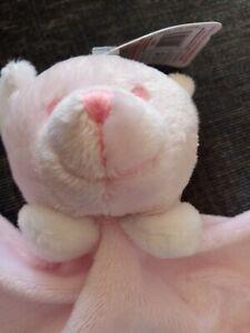Light pink bear comforter baby new