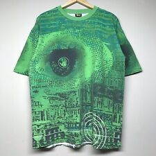 Vintage 90S Body Glove All Over Print T Shirt Target Possible Green Surf Mens L